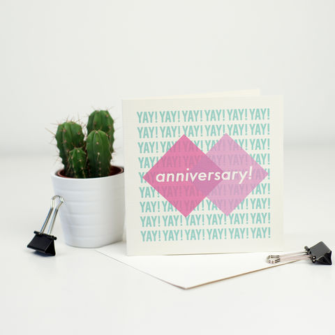 Modern,Anniversary,Card,Modern Anniversary Card, colourful greetings card
