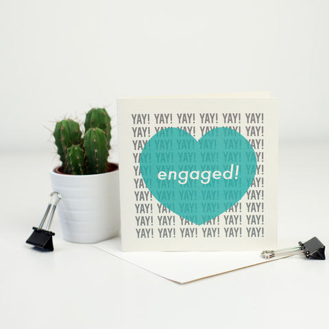 Modern,Engagement,Card,Modern Engagement Card, greetings card