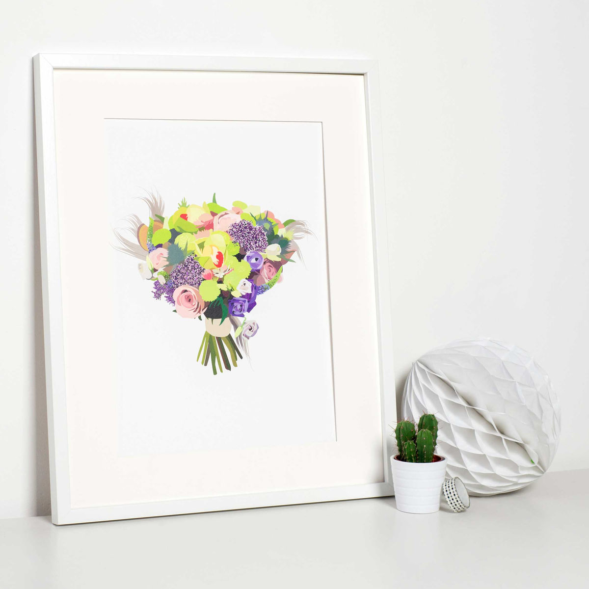 Custom Wedding Bouquet Illustration - product image