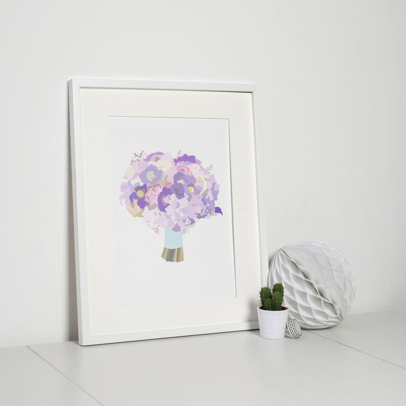 Custom Wedding Bouquet Illustration - product images  of