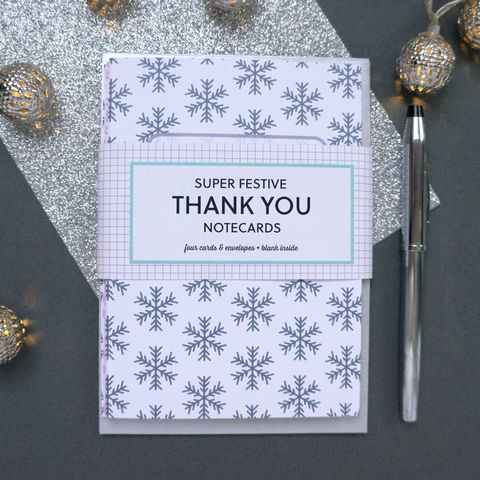 Festive,Christmas,Thank,You,Cards,festive thank you card, christmas card, thank you card, modern, greetings card