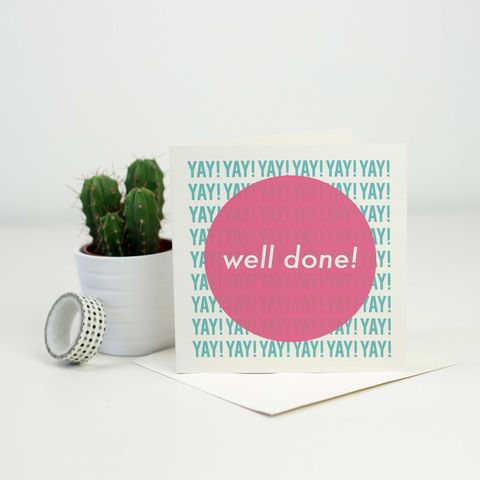 Well,Done,Greetings,Card,well done card, exam card, promotion card, driving test card