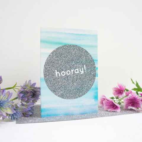 Hooray,Card,hooray card, celebration greetings card, good news card, feminine stationery, girly stationery