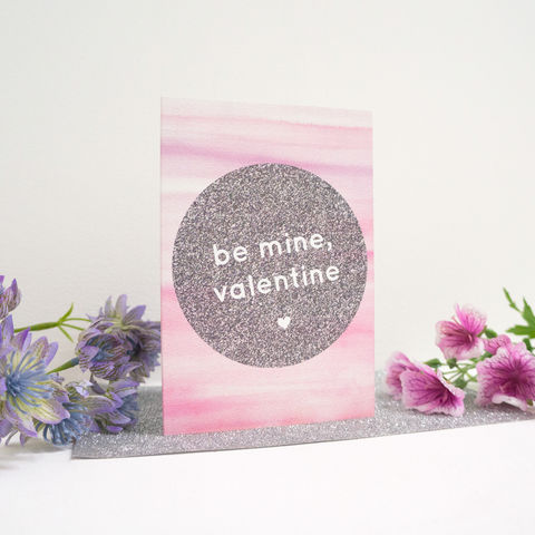 Be,Mine,,Valentine,Card,modern valentine's card, design-led stationery, be mine valentine card