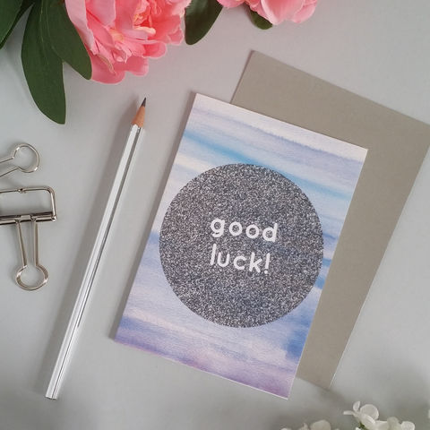 Good,Luck,Card,exam card, good luck card, modern greetings card, notepaper, feminine stationery, girly stationery