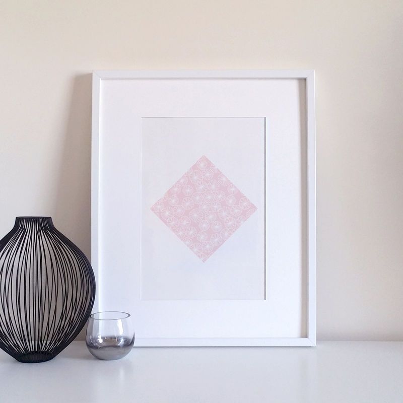 Pastel Pink Flowers Modern Art Print - product images