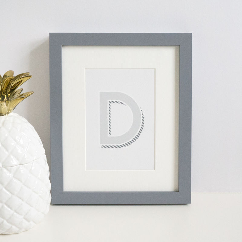 Monochrome Modern Letter Print - product images  of