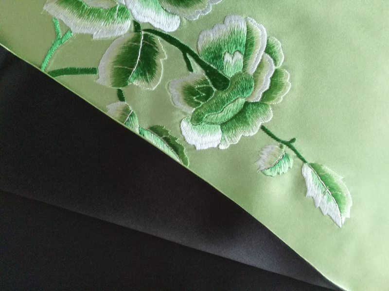 gf hand embroidery scarf - product images  of