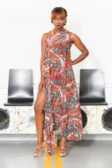 Queen Chiffon Maxi Shirt Dress - product images 1 of 1