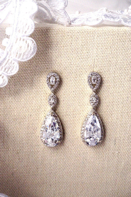 Chandelier Bridal Earrings Brides to Bridesmaids Boutique – Wedding Earrings Chandelier