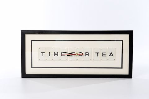 Time,For,Tea,Clock,upcycled, vintage, playing, cards, clock, tea, lover, yorkshire tea, brew, gift, housewarming, present