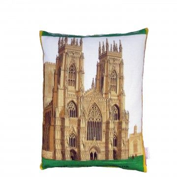 Upcycled,York,Minster,Cushion,upcycled, recycled, vintage, cushion, pillow, york, yorkshire, minster, bold, graphic, design, art