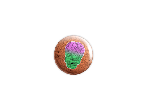 Mars,Attacks,Badge,badge, pin, lowbrow, emo, design, art, illustration, wolfmask, wolfmaskart,Mars Attacks ,horror, tim burton