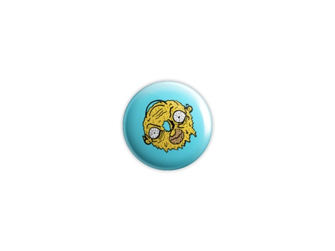 Donut,Homer,Badge,badge, pin, lowbrow, emo, design, art, illustration, wolfmask, wolfmaskart, the simpsons, homer simpson, donut homer, treehouse of horror