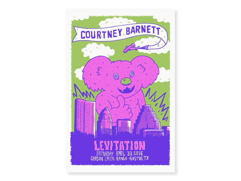 Courtney,Barnett,-,Levitation,Screen,Print,punk, emo, goth, wolfmask, wolfmaskart, art, design, illustration, lowbrow, illustrator, hand drawn, print, poster, courtney barnett, courtneybarnett, levitation festival