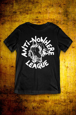 Classic,Logo,-,White,on,Black,T,Shirt,Mens,T Shirt, Punk, Anti Nowhere League, Rock, Metal
