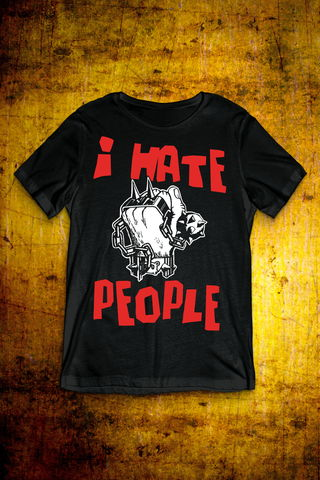 I,Hate,People,-,Black,T,Shirt,Mens,T Shirt, Punk, Anti Nowhere League, Rock, Metal