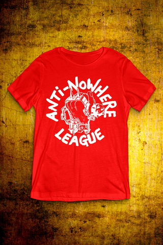 Classic,Logo,-,White,on,Red,T,Shirt,Mens,T Shirt, Punk, Anti Nowhere League, Rock, Metal