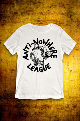 Classic,Logo,-,Black,on,White,T,Shirt,Men,T Shirt, Punk, Anti Nowhere League, Rock, Metal