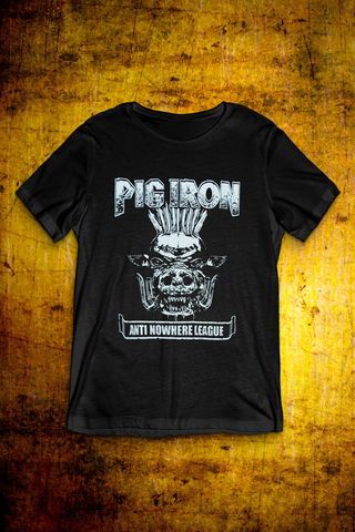 Pig,Iron,-,Black,T,Shirt,Mens,T Shirt, Punk, Anti Nowhere League, Rock, Metal