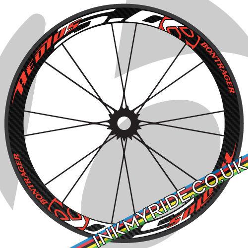 BONTRAGR aeols 3 Bike Rim Wheel Decals Stickers Replacement for 700C 2RIMS