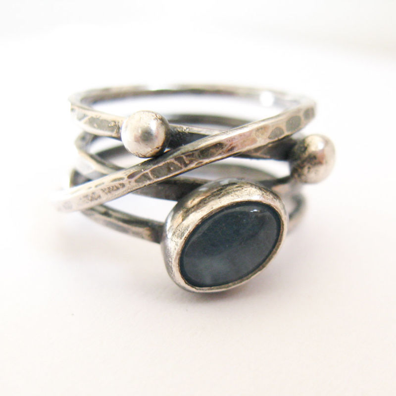 Aquamarine Silver Wrapping Ring - product images  of