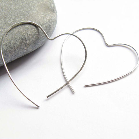 Open,Heart,Hoop,Jewelry, silver earrings, simply heart earrings, heart earrings, silver heart earrings, modern love earrings, urban silver earrings, minimalist silver jewellery, valentine gift, gift for love