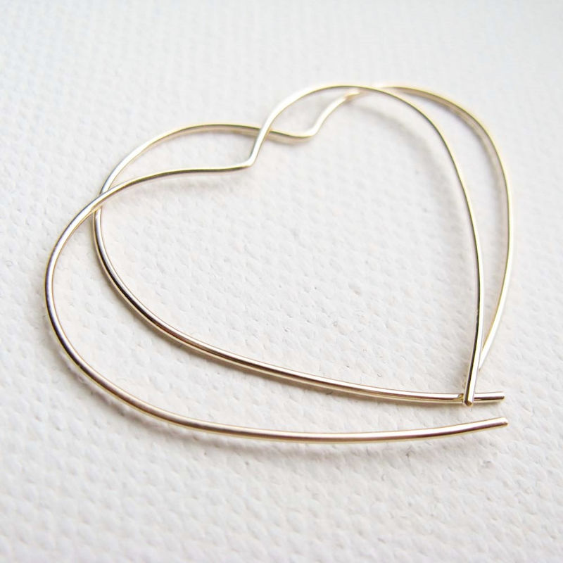 Gold Open Heart Hoop - Misluo