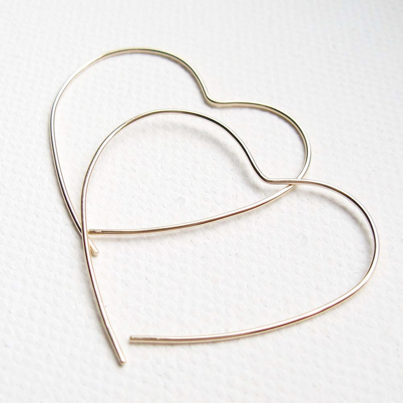 Gold Open Heart Hoop - product images  of