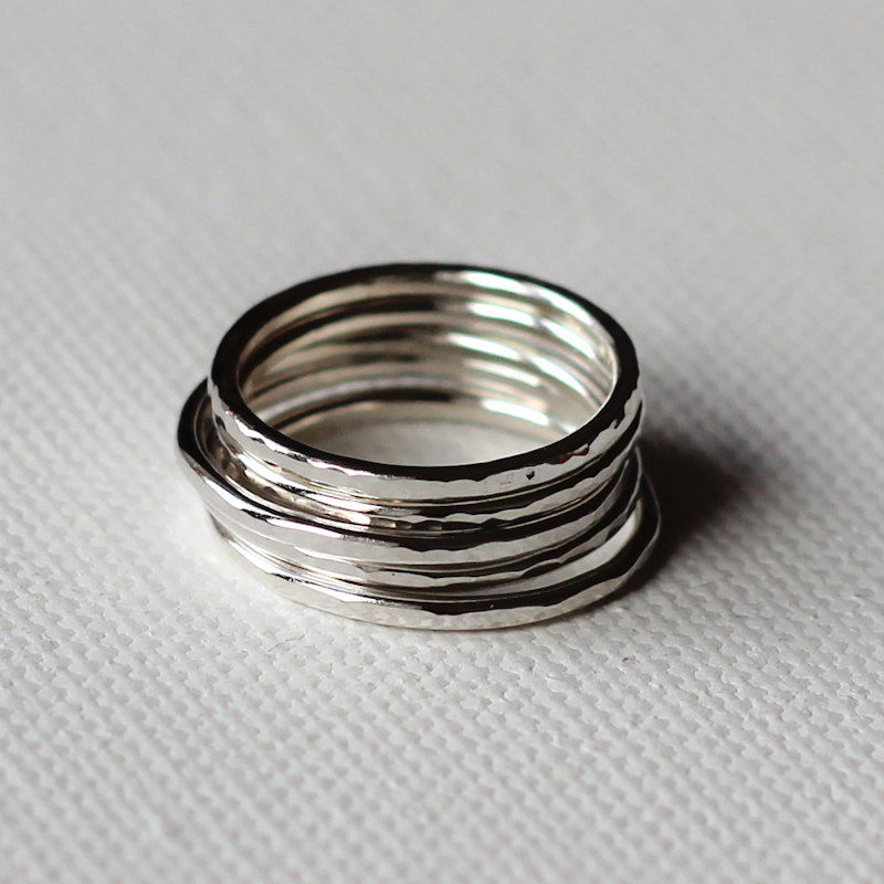 Five hammered rings - product images  of