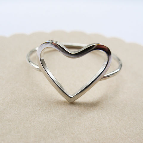 Open,Heart,Ring,handmade jewellery for girl, valentine gift, heart silver ring, simple silver ring, minimalist jewellery UK,modern ring UK, promise ring, open heart ring,love ring, Valentine gift UK