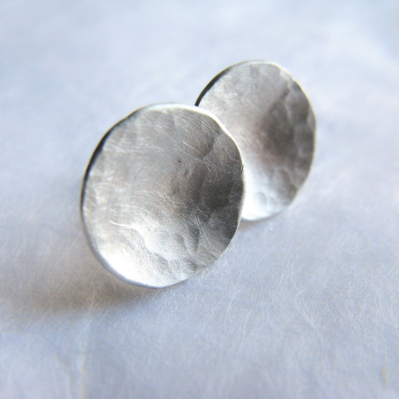 Dome silver stud earrings - product images  of