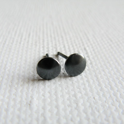 Tiny,Dot,Stud,earrings,Jewelry,Earrings,misluo,sterling silver stud earrings,sleek silver earrrings, modern jewellery UK, circle silver earrings,silver earrings UK,lightweight earrings,modern earrings,minimalist tiny post,silver dot, unusual earrings uk