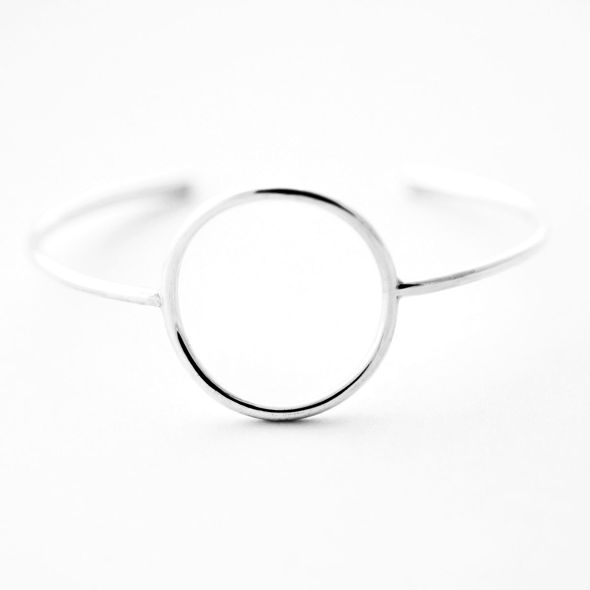 Open Circle Sterling Silver Cuff Bracelet - product images  of