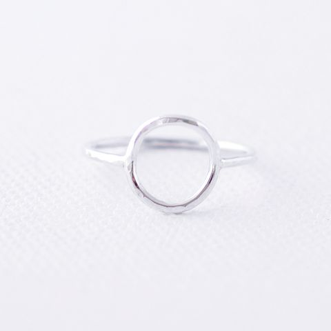 Open,Circle,Sterling,Silver,Ring,Open Circle ring, Circle silver ring,minimalist silver ring, Hammered Circle Ring, minimalist silver ring, modern silver ring, unusual silver ring, handmade silver ring, gift for women, handmade jewellery UK