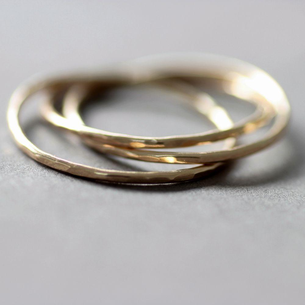 Hammered White Gold Wedding Band 66 Popular ct Gold Interlocking ring