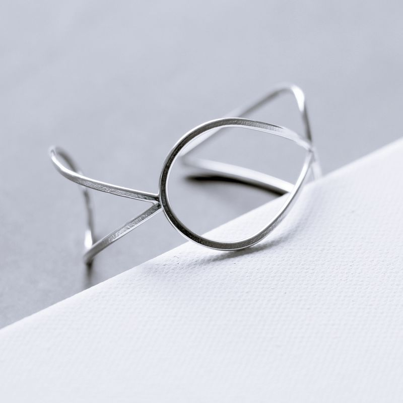 Droplet Sterling Silver Cuff Bracelet - product images  of