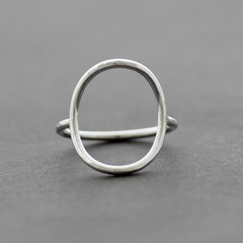 Open,Oval,Sterling,Silver,Ring,Open oval ring, large oval silver ring,minimalist silver ring, Hammered Circle Ring, minimalist silver ring, modern silver ring, unusual silver ring, handmade silver ring, gift for women, handmade jewellery UK