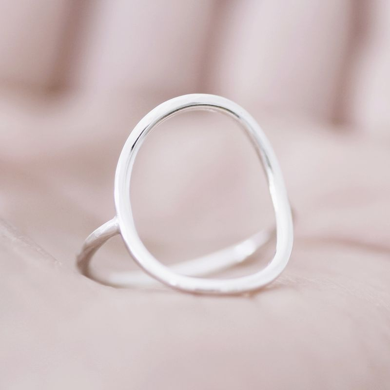 Open Oval Sterling Silver Ring - product images  of