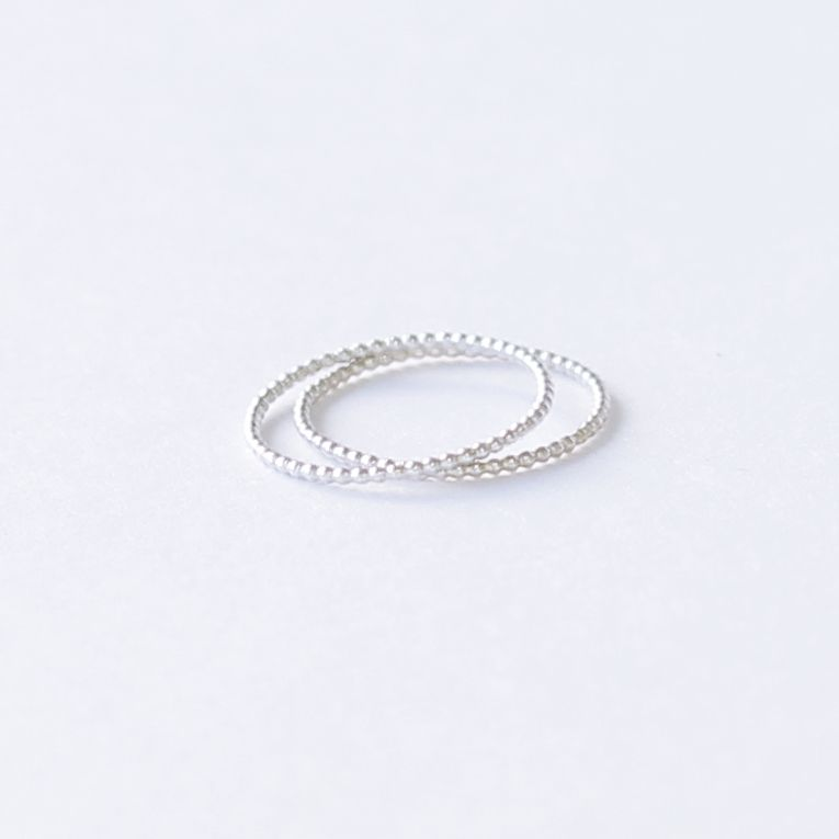 Slim Beaded Ring Set - product images  of
