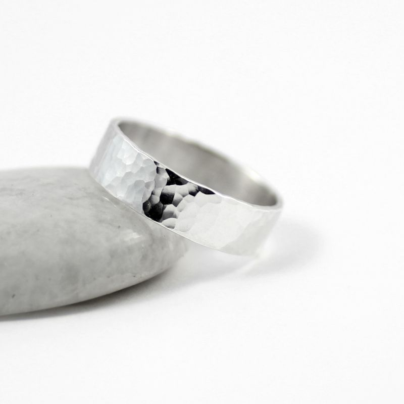 Hammered silver ring - product images  of
