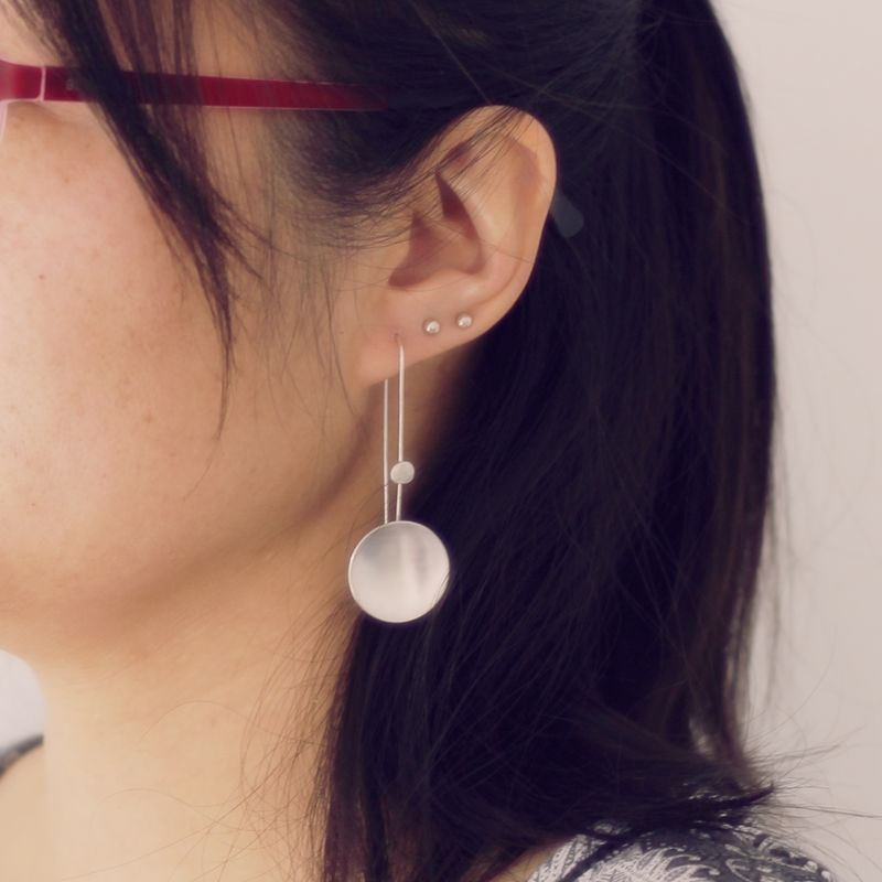 Long Moon Dangle Earrings - product images  of