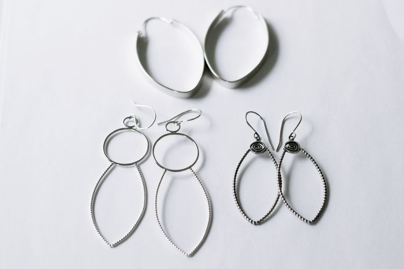 Falling Petal Sterling Silver Earrings - product images  of