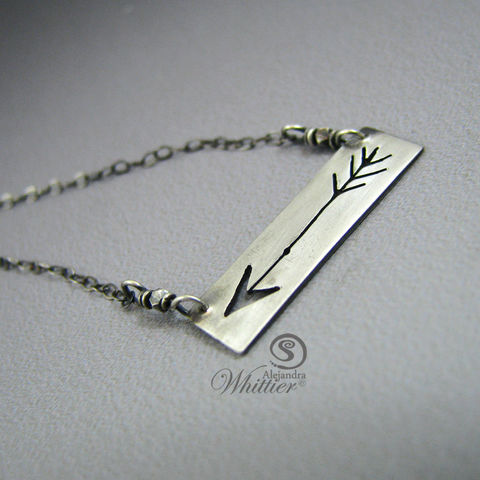 Arrow,Bar,Necklace.,Jewelry,Necklace,arrow_bar,arrow_pendant,arrow,sterling_arrow,sterling_pendant,handmade_gifts,inspirational_gifts,gifts_for_her,meaningful_gifts,sterling_gifts,gifts_under_50