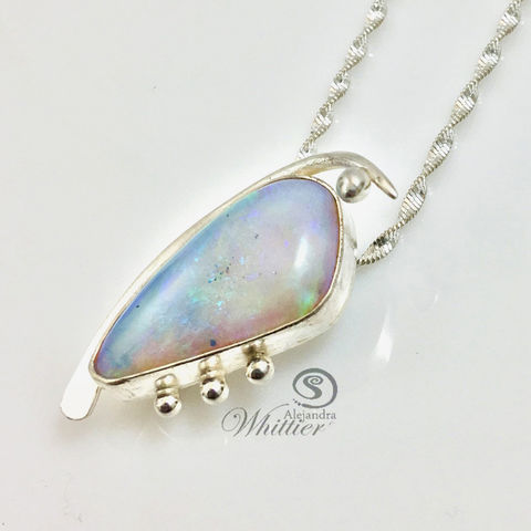 Two-way,Opal,pendant,opal necklace, opal stone, handmade pendant