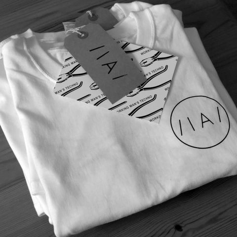 Inverted,Audio,x,White,Material,T-Shirt,White Material, whitematerial , White Material Records, White Material T Shirt, T Shirt, merchandise, inverted audio, inverted audio tshirt, london, bussey building, rye wax, rye wax tshirt, phonica tshirts