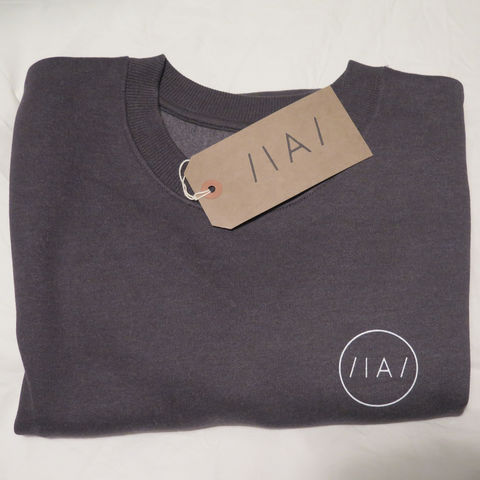Inverted,Audio,Jumper,Inverted Audio Sweatshirt, Inverted Audio Jumper, Minimal, Inverted Audio Logo, fair wear foundation, confidence in textiles, charcoal, charcoal grey, melange charcoal,