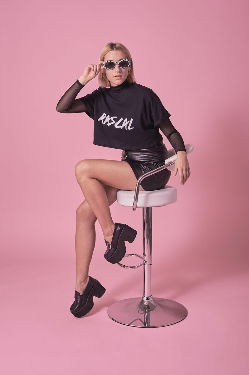 Black Rascal Cropped Tee  - product images  of