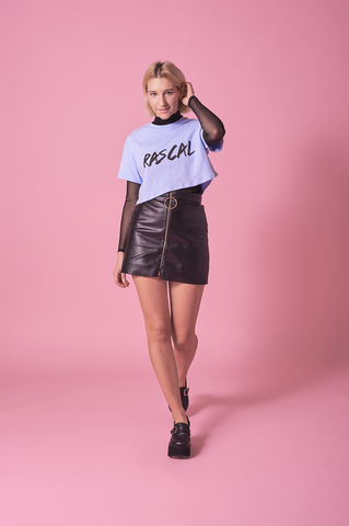 Blue,Rascal,Cropped,Tee,Crop, Tshirt, Black, White, Cropped, Rascal
