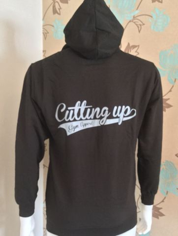 BLACK,LIGHTWEIGHT,HOODIE,WITH,GREY,SCRIPT,LOGO,TO,FRONT,AND,REAR,Hoodie,hooded top